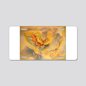 Butterfly, colorful art! Aluminum License Plate