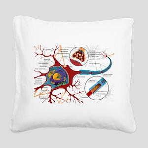 Neuron cell Square Canvas Pillow