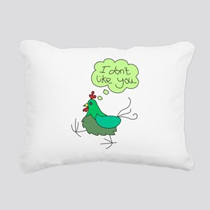 angry chick Rectangular Canvas Pillow