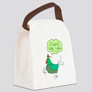 angry chick Canvas Lunch Bag
