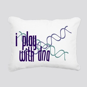 I Play with DNA Rectangular Canvas Pillow