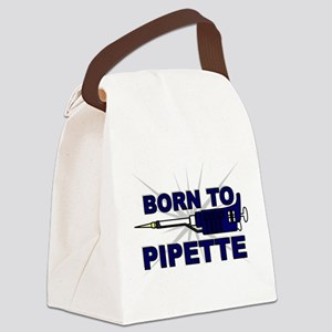 Born to Pipette Canvas Lunch Bag