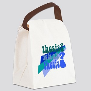 What Thesis? Canvas Lunch Bag