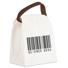 Barcode Science Geek Canvas Lunch Bag