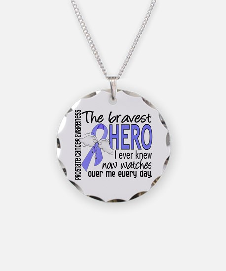 Bravest Hero I Knew Prostate Cancer Gifts Necklace