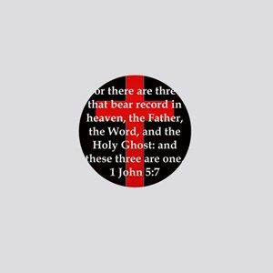 1 John 5-7 Mini Button