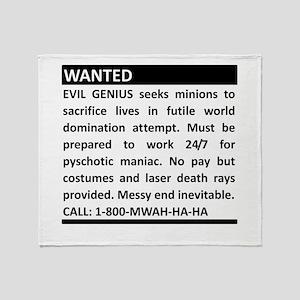 Evil Genius Personal Ad Throw Blanket