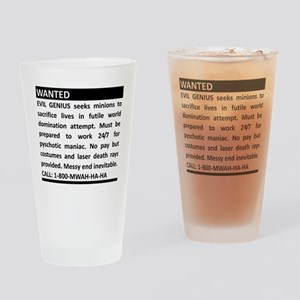 Evil Genius Personal Ad Drinking Glass
