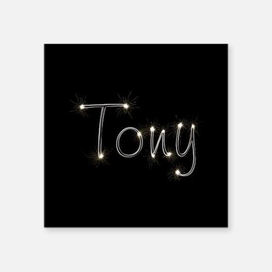 "Tony Spark Square Sticker 3"" x 3"""