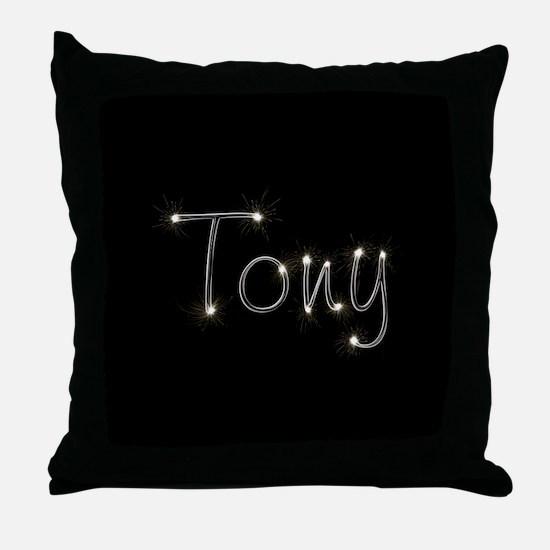 Tony Spark Throw Pillow