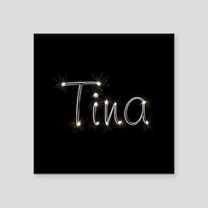 """Tina Spark Square Sticker 3"""" x 3"""""""