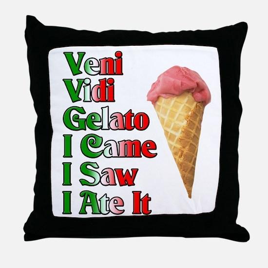Veni Vidi Gelato Throw Pillow