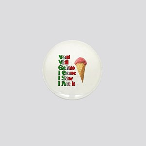 Veni Vidi Gelato Mini Button