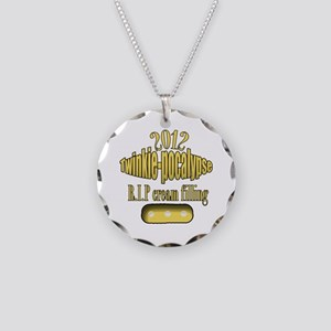 R.I.P cream filling Necklace Circle Charm
