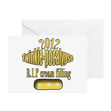 R.I.P cream filling Greeting Cards (Pk of 10)
