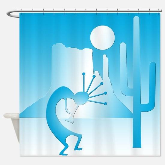 Kokopelli Desert Abstract #7 Shower Curtain
