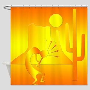 Kokopelli Desert Abstract #4 Shower Curtain