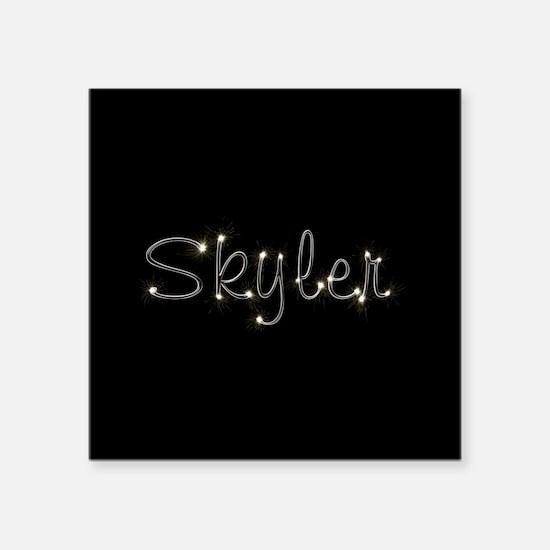 "Skyler Spark Square Sticker 3"" x 3"""