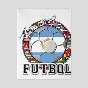 Argentina Flag World Cup Futbol Ball with World Fl