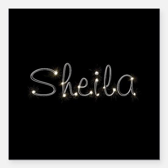 """Sheila Spark Square Car Magnet 3"""" x 3"""""""