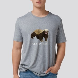 Honey Badger Customized Mens Tri-blend T-Shirt
