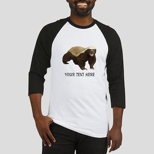 Honey Badger Customized Baseball Tee