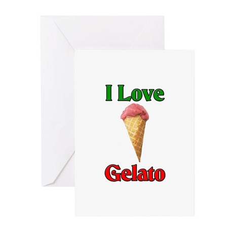 I Love Gelato Greeting Cards (Pk of 10)