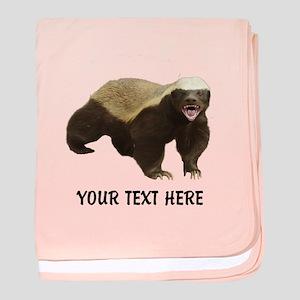 Honey Badger Customized baby blanket