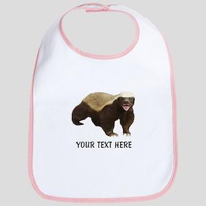 Honey Badger Customized Cotton Baby Bib
