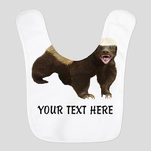 Honey Badger Customized Polyester Baby Bib