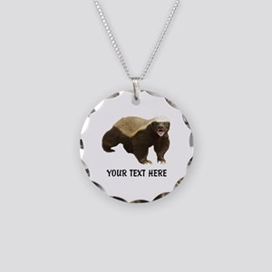 Honey Badger Customized Necklace Circle Charm