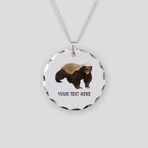 Honey Badger Customized Necklace Circle Charm