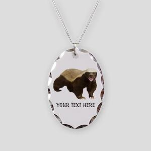 Honey Badger Customized Necklace Oval Charm