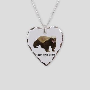 Honey Badger Customized Necklace Heart Charm