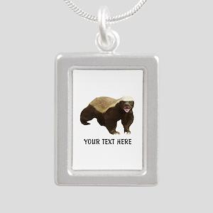 Honey Badger Customized Silver Portrait Necklace