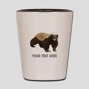 Honey Badger Customized Shot Glass