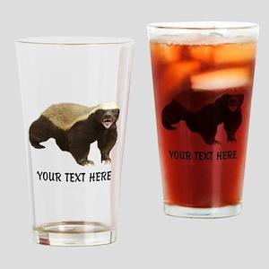 Honey Badger Customized Drinking Glass