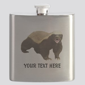 Honey Badger Customized Flask