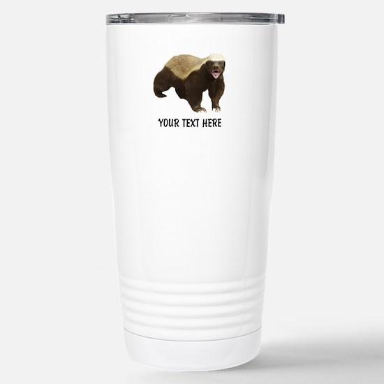 Honey Badger Cust Travel Mug