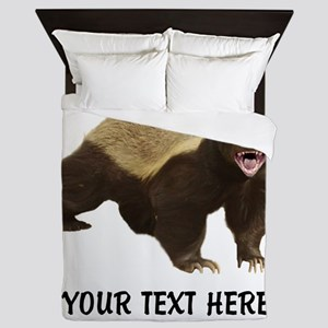 Honey Badger Customized Queen Duvet