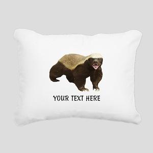 Honey Badger Customized Rectangular Canvas Pillow