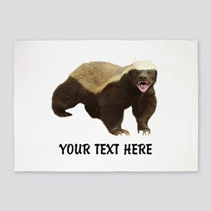 Honey Badger Customized 5'x7'Area Rug