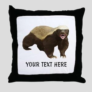 Honey Badger Customized Throw Pillow