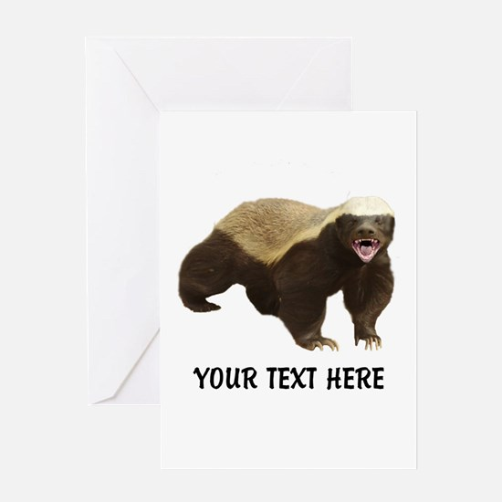 Honey Badger Customized Greeting Card