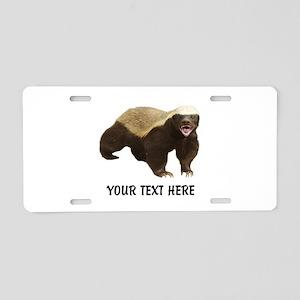 Honey Badger Customized Aluminum License Plate