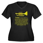 Trumpet Women's Plus Size V-Neck Dark T-Shirt