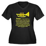 Trumpet Women's Plus Size V-Neck Dark T-Shirt