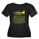 Trumpet Women's Plus Size Scoop Neck Dark T-Shirt