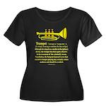 Trumpet Women's Plus Size Scoop Neck Dark T-Shirt