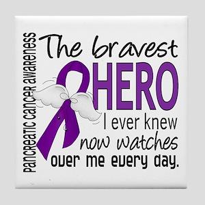 Bravest Hero I Knew Pancreatic Cancer Tile Coaster